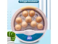 9 Eggs Incubator Automatic Bird Chicken Mini Brooder Kid Gift smart control turning