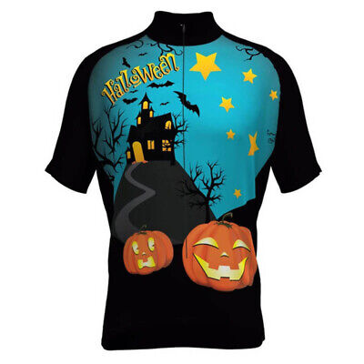 Happy Halloween Team (Happy Halloween Cycling Jersey mens team cycling Short Sleeve)