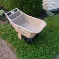 TWO WHEELED AMES POLYMAR GARDEN CART IN GOOD CONDITION