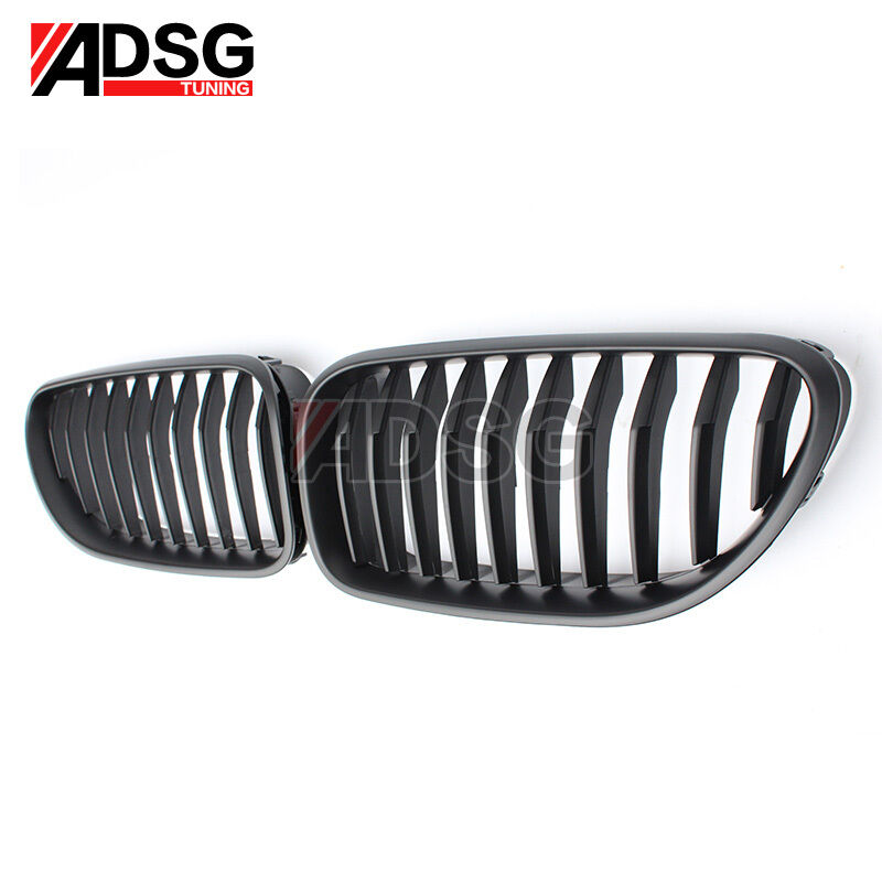 Matte Black Grille For BMW F12 F06 M6 Front Hood Kidney