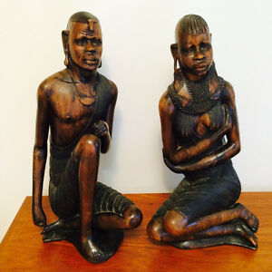 Wood carving art Kenyan