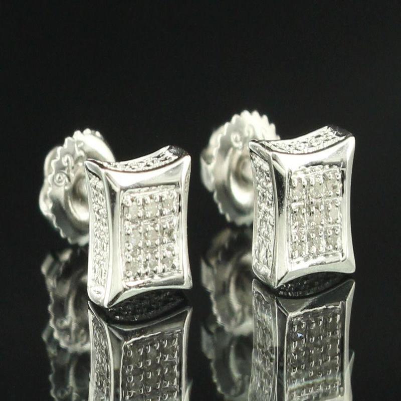 White Studs Mens Earrings