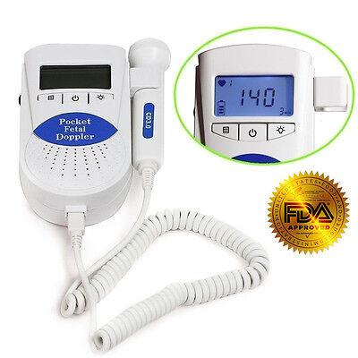 B Fetal Doppler Backlight Lcdbaby Heart Monitor3mhz Probegel Fda