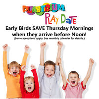 Playdates at Playtrium. Save up to 75% off regular admission !