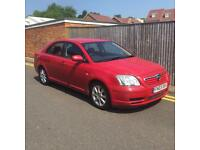 Toyota Avensis 1.8 VVT-i T3-S 5dr 2003 03 REG RED LOW MILES LONG MOT 97K