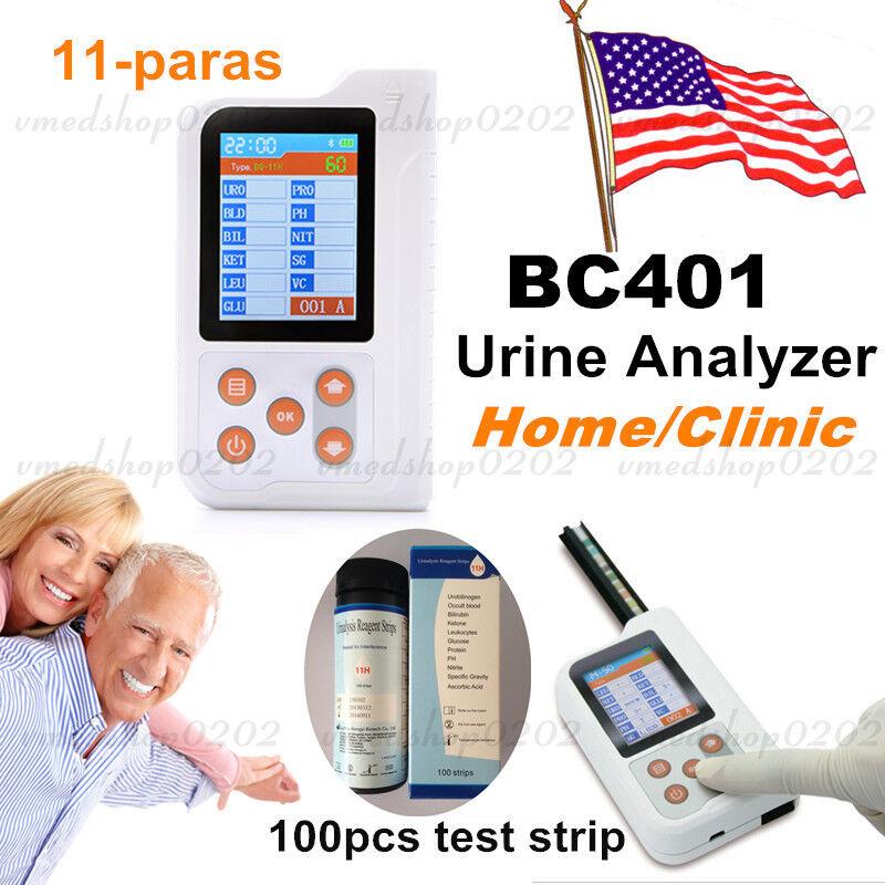 USA BC401 Urine Analyzer+Test paper,Urine protein,glucose,leukocyte,Occult blood