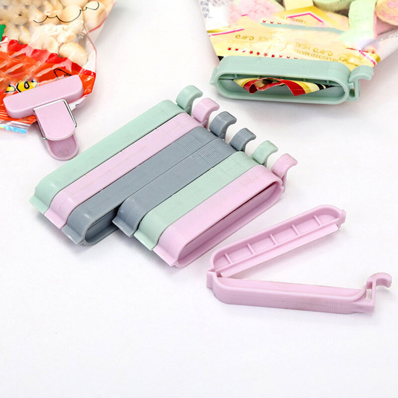 3/5/12 pcs Bag Clips Snack Fresh Food Clip Storage Bag Seale