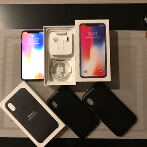 iPhone X - Space Grey - Unlocked - 64GB with FREE Apple Case