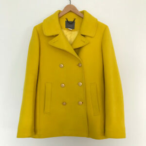 J.CREW Women's Mustard Yellow Wool Coat | Size 12 US