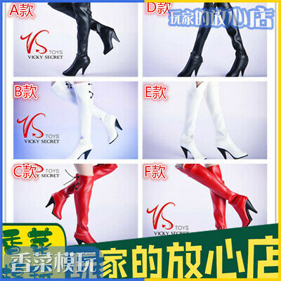 POPULAR VSTOYS over-the-knee boots 1/6 hot action figure toys boots fashionable