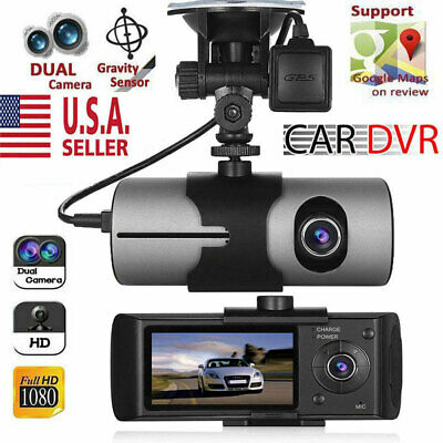GPS Camera HD Car DVR Dash Cam Video Recorder Dual Lens Night Vision G-Sensor US