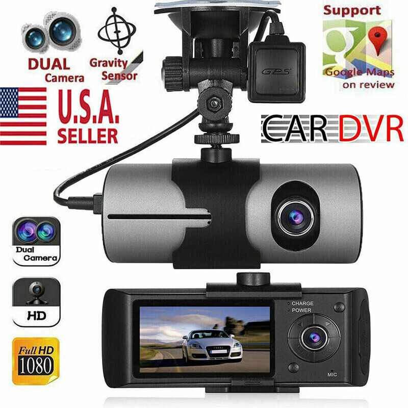 GPS Camera HD Car DVR Dash Cam Video Recorder Dual Lens Nigh