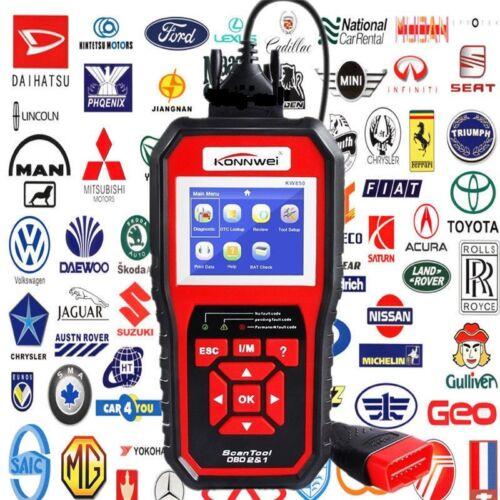 KW850 OBD II Scan Tool Check Engine Auto Car Code Reader EOBD Diagnost