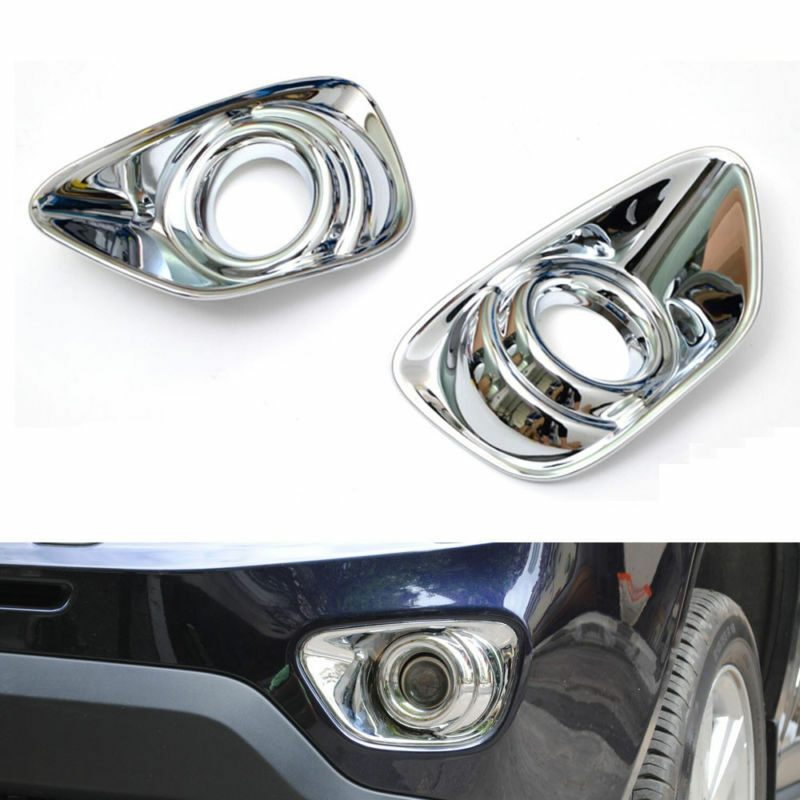 Left /& Right Fog Light Kit w// Bulbs Chrome Bezels For Subaru Forester 2011-2013