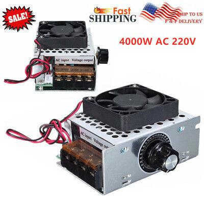 4000w Ac 220v Voltage Regulator Motor Speed Controller Fan Thermostat Dimmer Us
