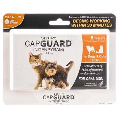 Sentry Capguard Nitenpyram Oral Flea Treatment Tabs 6ct Dogs & Cats  2-25 lbs