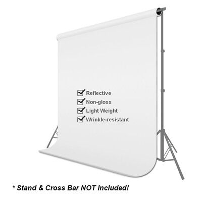 5x10 FT Screen 100% Non-woven Fabric Backdrop Photo Photography Background White