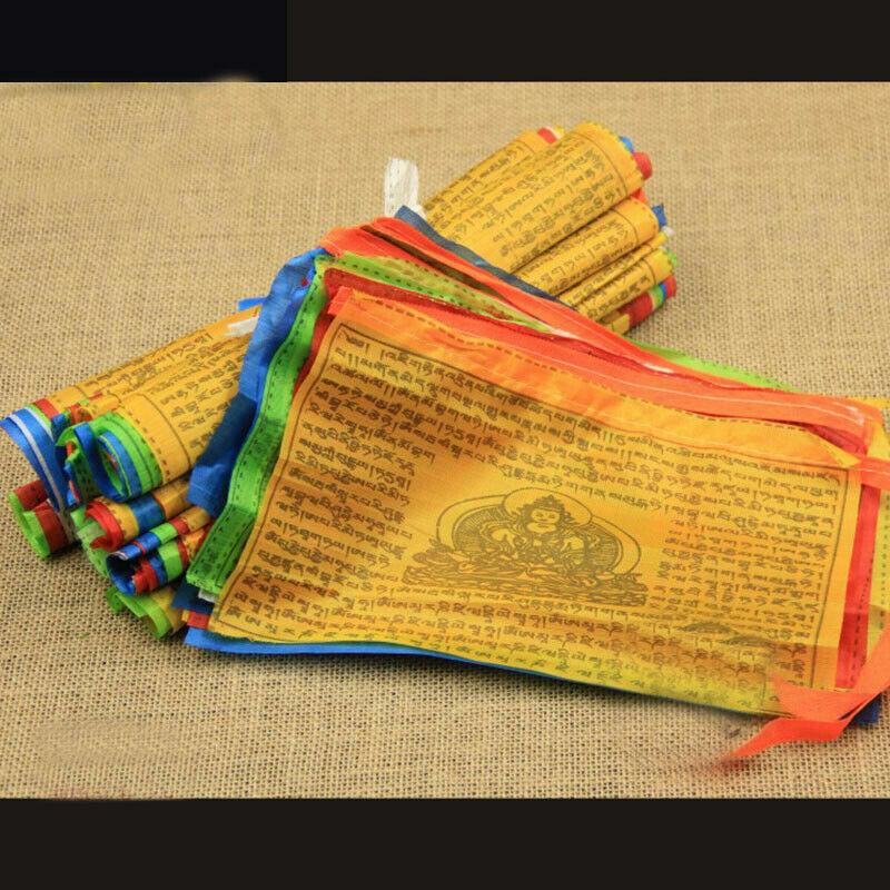 5 Meters Tibetan Buddhist Prayer Flag Scriptures Pray Peace  20 Flags Home Decor