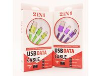 1m TPE Multifunction Phone Accessories USB Electroplate Data Cable For iPhone Samsung