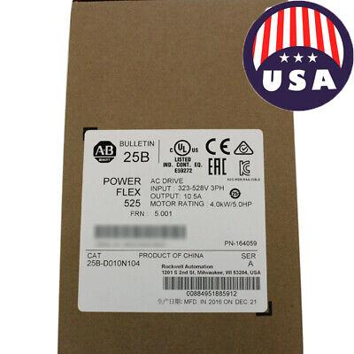 Professional Allen Bradley 25b-d010n104 Powerflex 525 4kw 5hp Ac Drive
