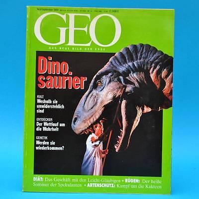 GEO Magazin 9/1993 Dinosaurier Vietnam-Emigranten Kakteen Schlankheitskost Rügen