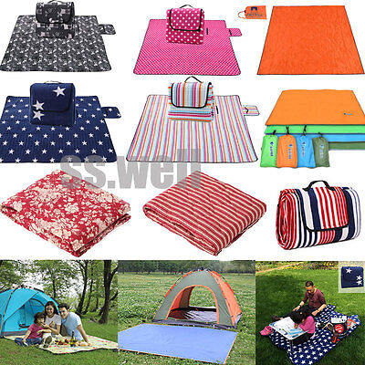 Large Camping Mat Beach Picnic Blanket Foldable Baby Climb Plaid Blanket Outdoor