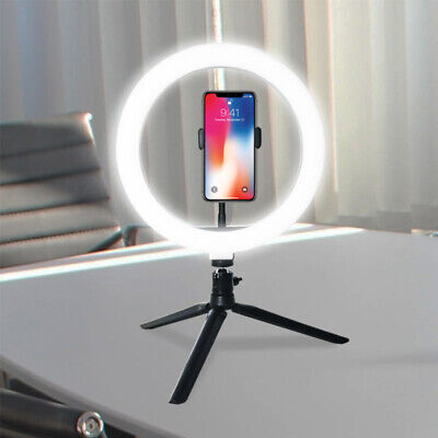 LED Ring Light Lamp Selfie Camera Phone Studio Tripod Stand Photo Video -