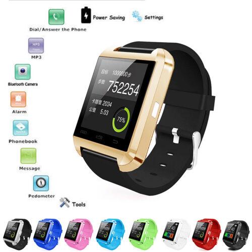 Bluetooth Smart Orologio da Polso Telefono COMPAGNO PER IOS ANDROID IPHONE