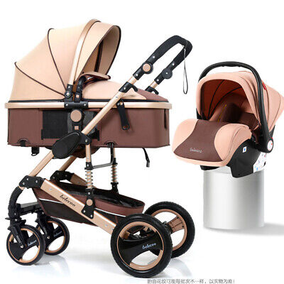 NEW! COLOR! Luxury 3In1 Baby Stroller Pushchair Infant W/ Basket Car Seat Buggy