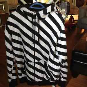 Circa Striped Double Zip Hoodie
