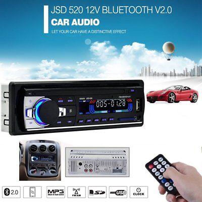 Car Stereo Radio Bluetooth In-dash Head Unit Player FM MP3/SD/AUX Receiver NEW