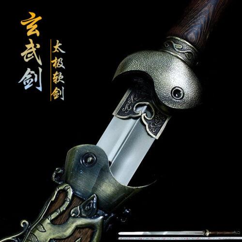 Handmade Chinese Tai Chi Sword Stainless Steel Wushu Flexible Sword Kung Fu Jian
