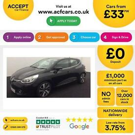 RENAULT CLIO0.9 1.2 16V DYNAMIQUE S 1.5 DCI PLAY GT LINE NAV FROM £ 31 PER WEEK