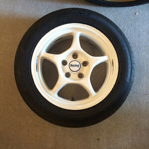 5 bolt Enkei Rims and tires