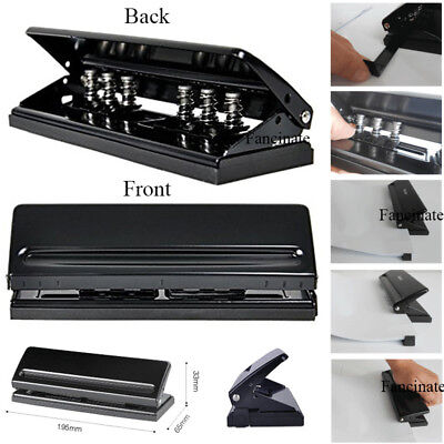 6-hole Punch Black Craft Punch Paper Cutter Adjustable A5 A6 B7 Puncher