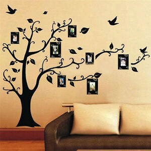 Black Tree Removable Decal Room Wall Sticker Vinyl Art DIY Decor Home Family UK