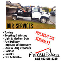 FAST, CHEAP, RELIABLE TOWING CALL NOW: 403-618-4349
