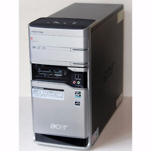 Acer Aspire E380 Desktop PC AMD Dual Core 4GB RAM 320GB HDD DVD