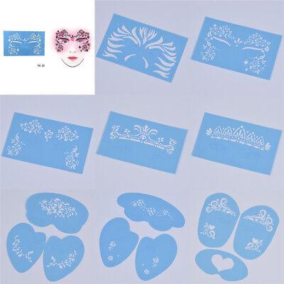 Reusable Soft Face Paint Stencil Flower Butterfly Design DIY Craft Makeup Tools](Face Paint Butterfly)