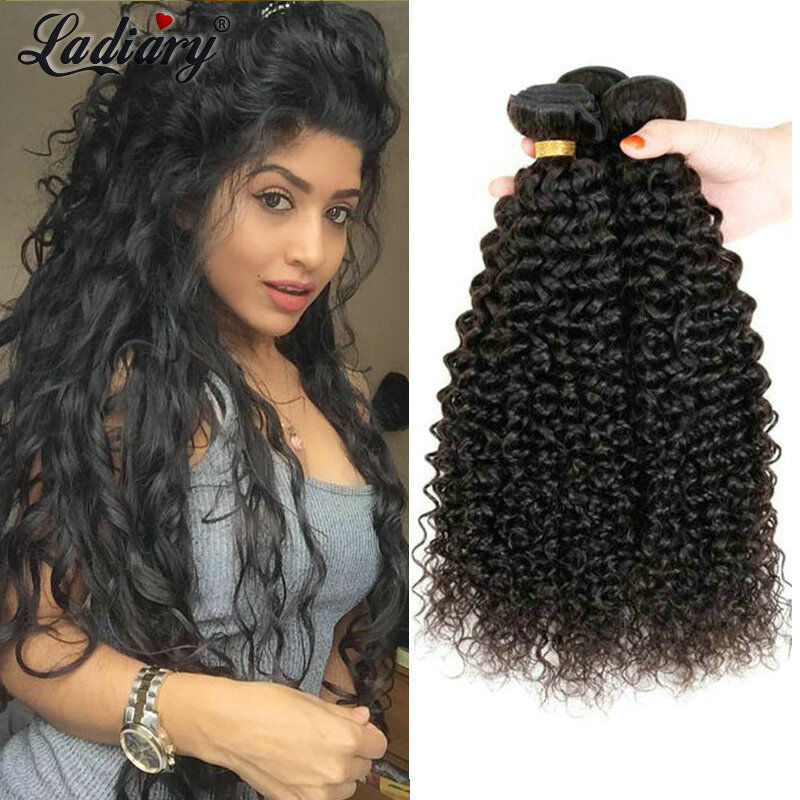 Kinky Curly Hair Products 3Bundles Brazilian Virgin Human Ha