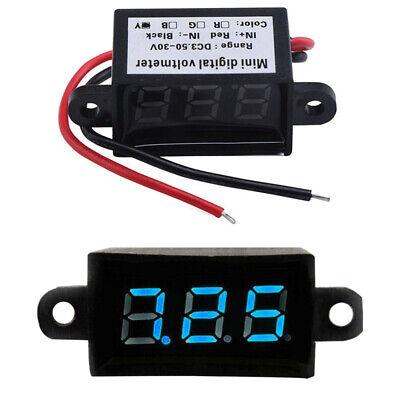 Mini Digital Voltmeter 3.5-30v Led Car Auto Voltage Volt Panel Meter Waterproof