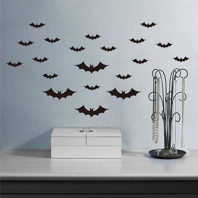 20Pcs Halloween Flying Bats Wall Stickers Room Decoration Home Decor Mural bw