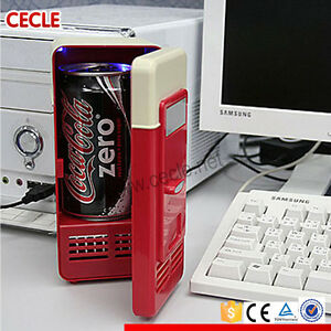 Mini USB Fridge Cooler Beverage Drink Cans Cooler Refrigerator for Laptop/PC