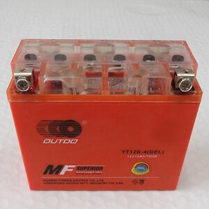 GEL UT12B-4 YT12B-BS Battery for Ducati Monster 110 1100 696 GT1000 1098 1100S