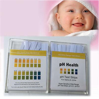 100 pH Health Tester Alkalinität Säure Test Teststreifen Indikatorpapier Wasser
