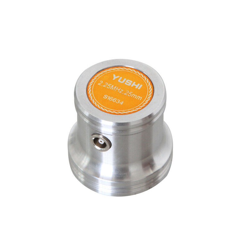 YUSHI Ultrasonic Flaw Detector Transducer Straight Beam Probe 2.25MHz Dia 25mm