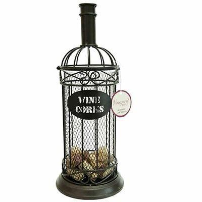 Boston Warehouse Vineyard Road Metal Cork Holder, Wine Bottle Design