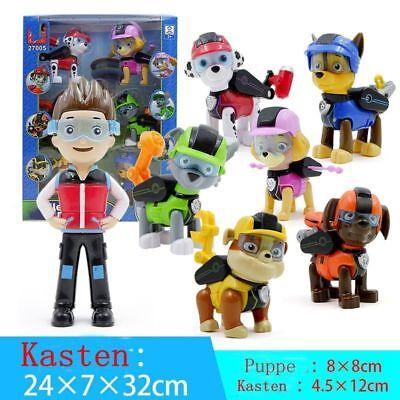 Neu Set of 7 Paw Patrol Pup Deluxe Spiel Figuren Spielfiguren Spielzeug (Pup Patrol Spiele)