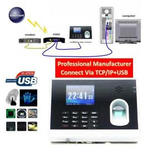 Biometric Fingerprint Time Attendance Time Clock Recorder TCP/IP+USB 028052