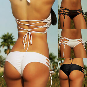 Donna brasiliano costumi da bagno bikini da bagno spiaggia - Costumi da bagno tanga ...